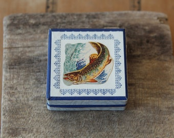 Special Gift Box Vintage Miniature Pharmacy box with Antique Scrap