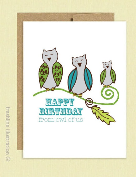 Happy Birthday Photographer Card Happy Birthday Card Owl