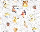 SALE By Half Yard Mash D'yans BLOOM White Y1395-1 Fabric Clothworks