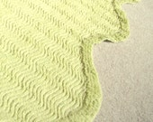 Vintage Chenille Fabric Bright Lime Green 96 x 62