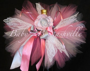 Lace Newborn Baby Tutu Set in Pink and Silver ... Baby Shower Centerpiece