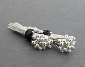 "20 - 24 Gauge 3/4 Inch Argentium Sterling Silver Headpins, Handmade .75"" Ball Head Pins, Made in the USA, Silver Headpins, Ball End Headpins"