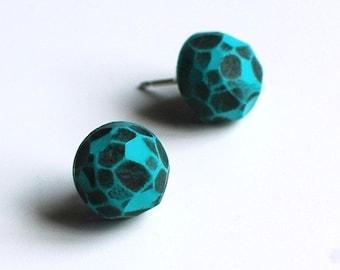 Fragment post earrings in Turquoise