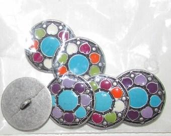 flower set buttons set of 6