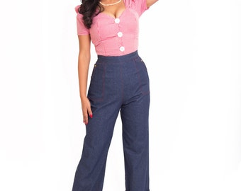 CLEARANCE Big Sky Blues Dungarees 1950s western jeans