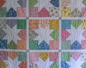 Little Star a OOAK Handcrafted Storybook Baby Nursery Quilt Lap Robe by oldfarmhands