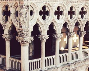 "Venice photography geometric ornate architecture art beige tan decor Italy travel photography ""Basilica"""