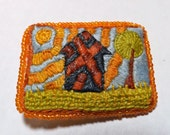 Hand-Embroidered Brooch--Let the Sun Shine Down on Me