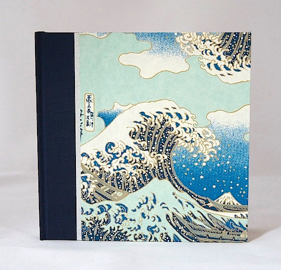 Photo Album The Great Wave-Great for Wedding Album, Scrapbook Album, Anniversary, Memories