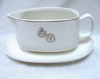 Vintage RX Pharmacist Hall China Gravy Boat