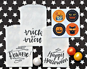 Great Parties - Halloween Mini Treat Bags SET OF 12 from Mary Had a Little Party