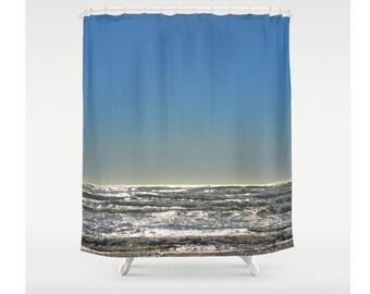 Ocean Shower Curtain Waves Sea Decor Beach Cottage Decor Sweet Things Water Bathroom Decor Marine Ocean Waves