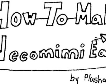 How to Make Necomimi Ears ePattern&Tutorial