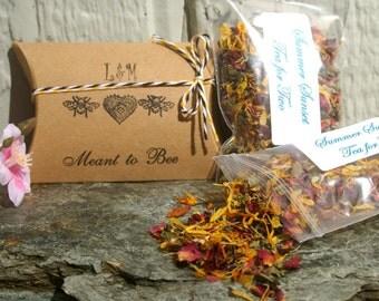 Tea Wedding Favors, Meant to Bee, Set of 25 - Bumble Bee, Honey Bee, Drink Me, Tea Favor, Wedding Favor, Shower Favor, Herbal Tea