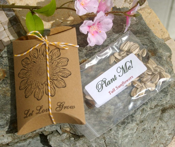 Sunflower Wedding Favor Ideas: Items Similar To Wedding Favors, With Sunflower Seeds