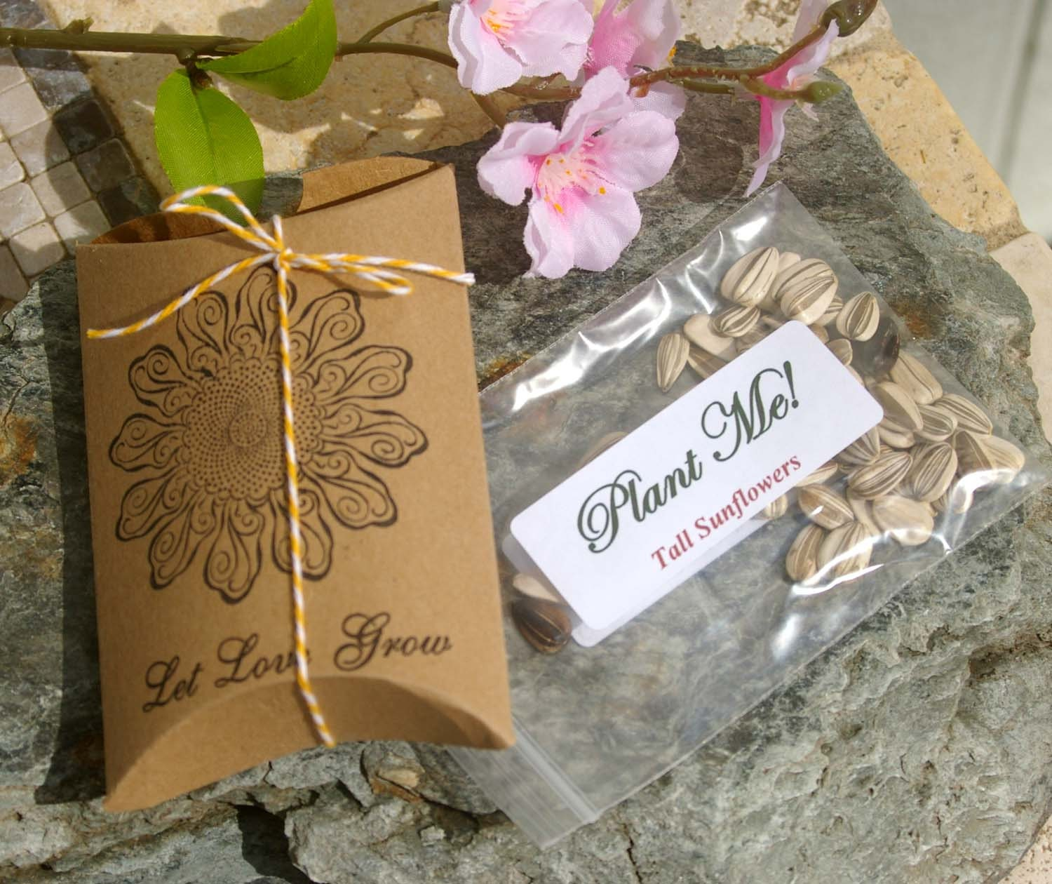 Wedding Favors With Sunflower Seeds Let Love Grow By