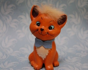 Vintage 1970s Aristocats Toulouse Figurine Ceramic Disney Productions Enesco As Is