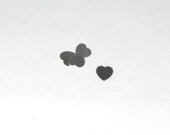1/2 inch Baby Hearts Sterling Silver 22 gauge  set of 8 perfect for rings and earrings