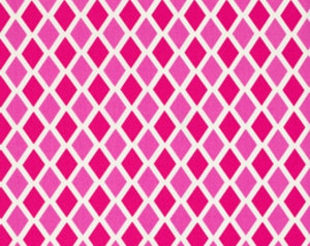 SALE 1 yard Happy Land Madison in pink by Jennifer Paganelli