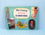 Mid-Century Style Self Adhesive Stickers