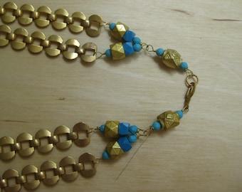 Insouciant Studios Deco Turquoise Necklace