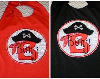 SuperHero Cape  - Pirate Theme - ARGGGGGGGGGGGGGGG  Personalized  UBaHero