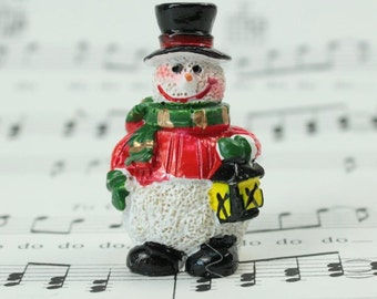 Snowman Carrying Lantern - Set of 4 - #205-1594-1