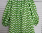 Plus size Shirt, Plus size blouse, Lime Green  Chevron Blouse, Chevron Shirt,  Shirt Top Chemise