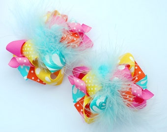 boutique ITSY-BITSY completely CUSTOM you create your own set of 2 hair bows