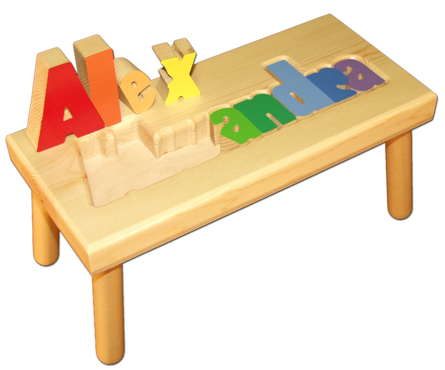 Large Child S Name Puzzle Stool Free Shipping Item