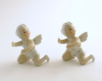 Vintage Angel Candle Slides Climbers Huggers