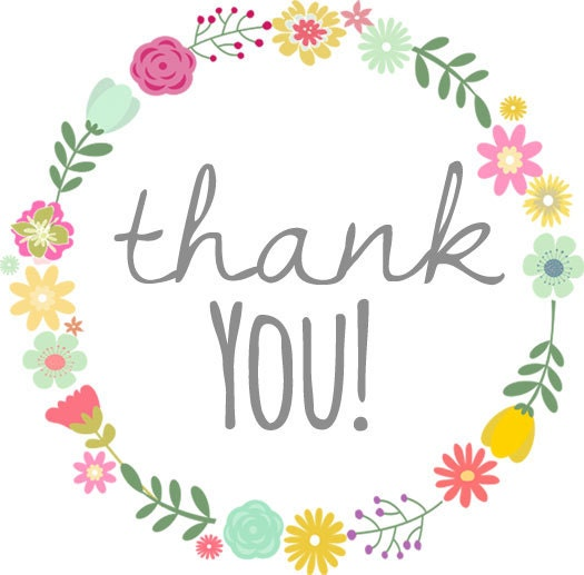 Thank You For Your Purchase Quotes: Floral Wreath Thank You PERSONALIZED Stickers Tags Labels