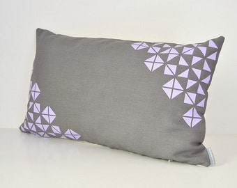 Origami inspiration pattern design lumbar pillow cover