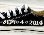 Hand Painted Groom Wedding Date Shoes