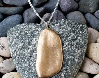 Bronze Large River Rock Necklace