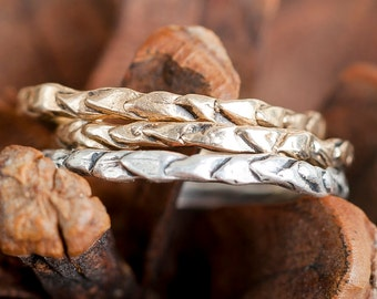 14k Gold Thin Pinecone Ring| Stacking Rings | Nature Inspired Ring