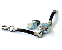 Typewriter Jewelry, Typewriter Bracelet, Gift for Writer, Gift for Blogger, Magnetic, 3 in 1, Vintage Typewriter Art Michele Maule, Polarity