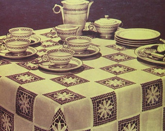 Favorite Crocheted Tablecloth Design Pattern Book