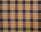 Homespun Material | Cotton Material | Quilt Fabric | Plaid Material | Country Cupboard Navy Mini Plaid 1 Yard