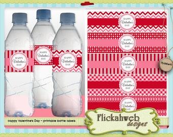 valentine's day water bottle label love printables valentine digital printable use instant download valentines labels gift