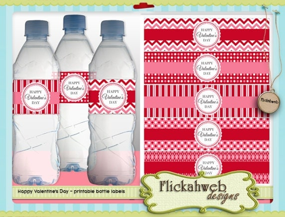 ValentineS Day Water Bottle Label Love Printables