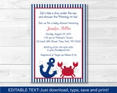 Cute Crab Baby Shower Inv...