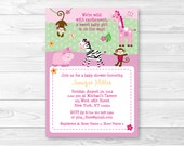 Cute Pink Jungle Animal B...