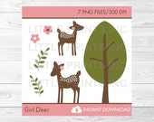 Cute Pink Deer Clipart / ...