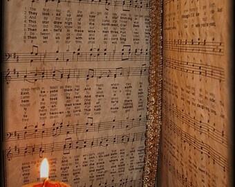 Aunt Mannys Primitive Christmas Music Book Pattern NO SEW