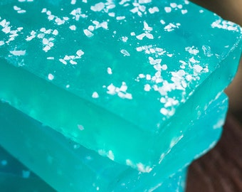 Handmade Glycerin Soap - Island Breeze Soap Infused with Sea Salt // Gifts for Her // Gifts for Him
