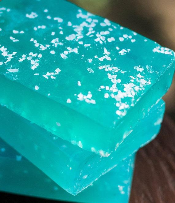 Handmade Glycerin Soap - Island Breeze Soap Infused with Sea Salt