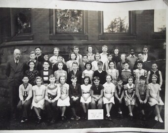 Vintage School Pictures - 5x7 - 1930s, 1940s, 1950s, British Columbia, Black and White
