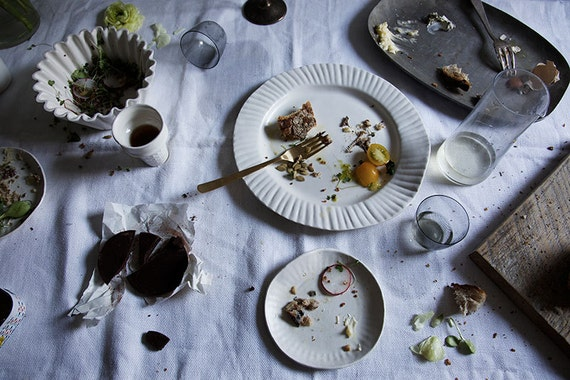 50% OFF SECONDS SALE - large - porcelain paper plate