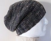KNITTING PATTERN/CHARLEY Mans Slouchy Hat Pattern Mans Handknit Slouchy Beanie/ Easy Slouch Pattern/Aran Worsted Stockinette Stitch ToqueHat